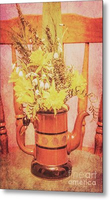 Vintage Fine Art Still Life With Daffodils Metal Print by Jorgo Photography - Wall Art Gallery