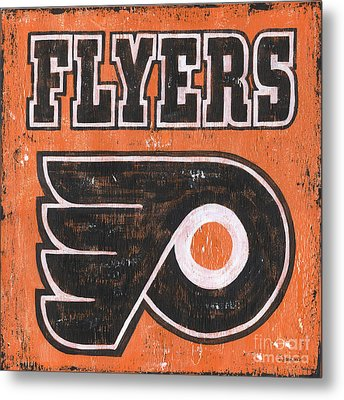 Vintage Flyers Sign Metal Print by Debbie DeWitt