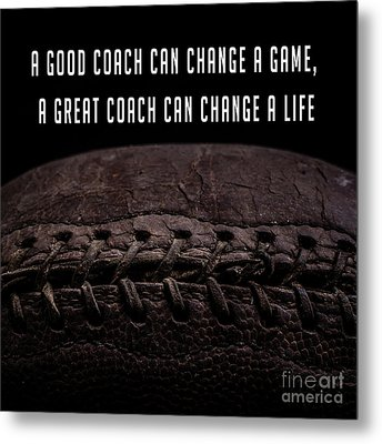 Metal Print featuring the photograph Vintage Football  Good Coach by Edward Fielding
