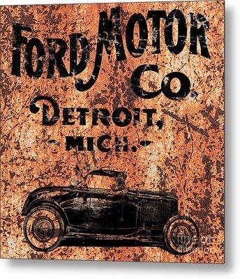 Vintage Ford Motor Company Metal Print by Edward Fielding
