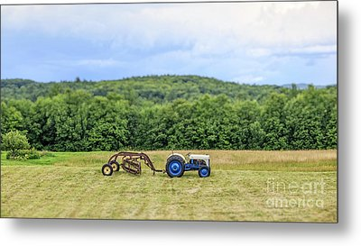 Vintage Ford Tractor Tilt Shift Metal Print by Edward Fielding