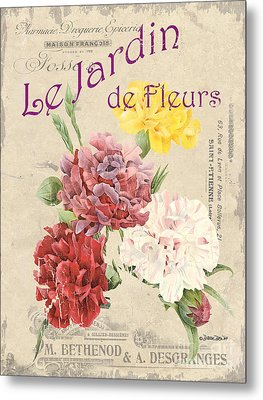Vintage French Flower Shop 4 Metal Print by Debbie DeWitt