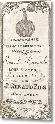 Vintage French Perfume Sign Metal Print