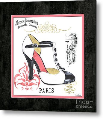 Vintage French Shoes 1 Metal Print