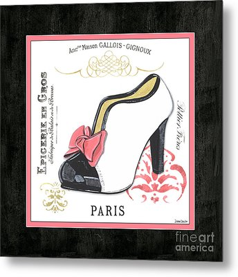Vintage French Shoes 2 Metal Print by Debbie DeWitt