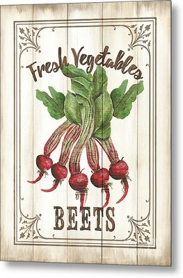 Metal Print featuring the painting Vintage Fresh Vegetables 1 by Debbie DeWitt