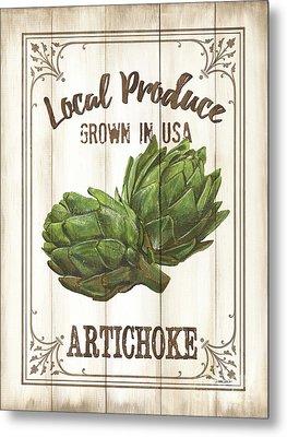 Vintage Fresh Vegetables 2 Metal Print