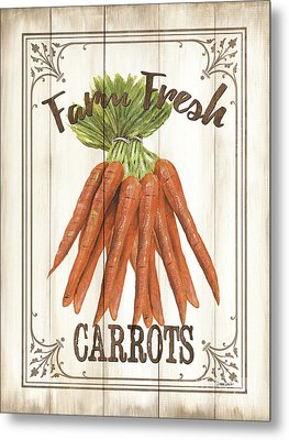 Metal Print featuring the painting Vintage Fresh Vegetables 3 by Debbie DeWitt
