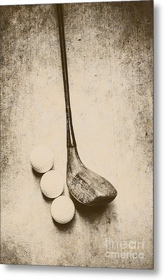 Vintage Golf Artwork Metal Print by Jorgo Photography - Wall Art Gallery