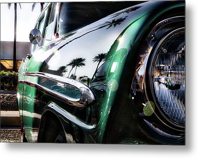 Vintage Green Metal Print by Mark David Gerson