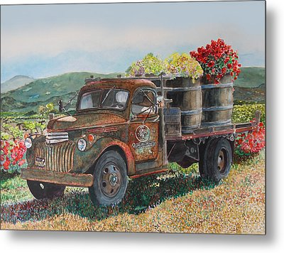 Metal Print featuring the painting Vintage Harvest by Gail Chandler