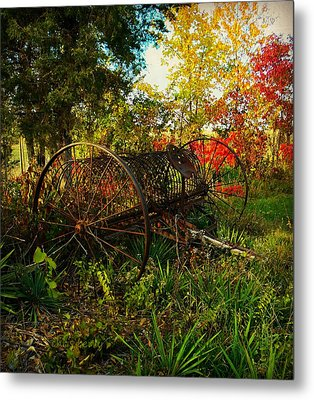 Vintage Hay Rake Metal Print by Chris Berry