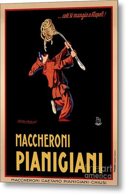 Vintage Italian Pasta Advertising Metal Print by Mindy Sommers