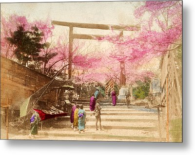 Vintage Japanese Art 25 Metal Print by Hawaiian Legacy Archive - Printscapes