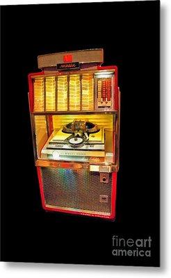 Vintage Jukebox Tee Metal Print
