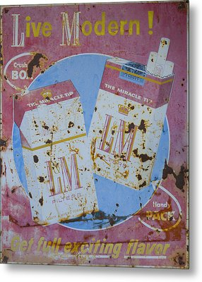Vintage L And M Cigarette Sign Metal Print