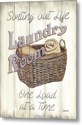 Metal Print featuring the painting Vintage Laundry Room 2 by Debbie DeWitt