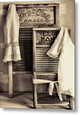 Vintage Laundry Room Metal Print by Mindy Sommers