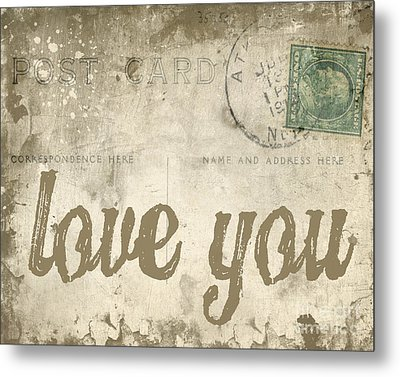 Vintage Love Letters Metal Print by Edward Fielding