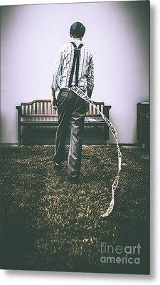 Vintage Man Breaking Rules Metal Print by Jorgo Photography - Wall Art Gallery