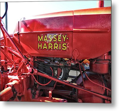 Metal Print featuring the photograph Vintage Massey Harris Tractor by Ann Powell