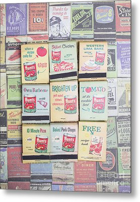 Metal Print featuring the photograph Vintage Matchbooks by Edward Fielding