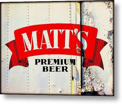 Vintage Matt's Premium Beer Sign Metal Print