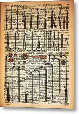 Vintage Medical Instruments Metal Print by Jacob Kuch