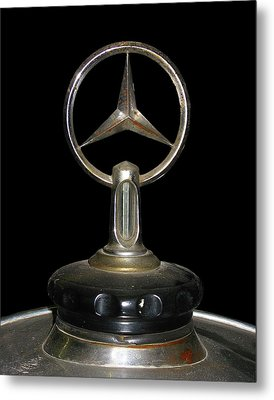 Metal Print featuring the photograph Vintage Mercedes Radiator Cap by David and Carol Kelly