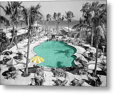 Vintage Miami Metal Print by Andrew Fare