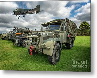 Vintage Military Transport Metal Print by Adrian Evans