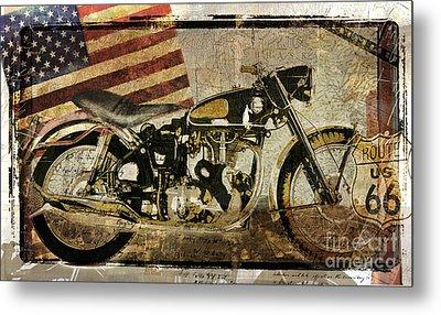 Vintage Motorcycle Road Demon Metal Print