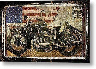 Vintage Motorcycle Unbound Metal Print