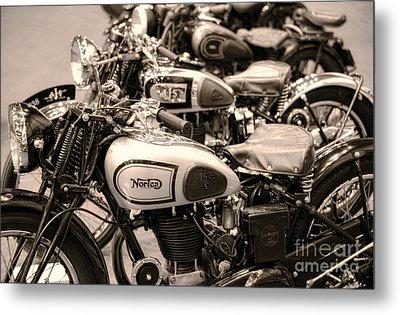 Vintage Motorcycles Metal Print by Ari Salmela