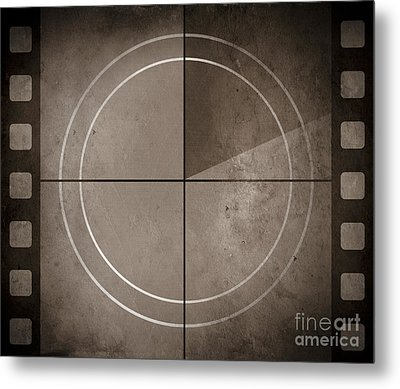 Vintage Movie Background With Film Strip Boarder Metal Print by Jorgo Photography - Wall Art Gallery