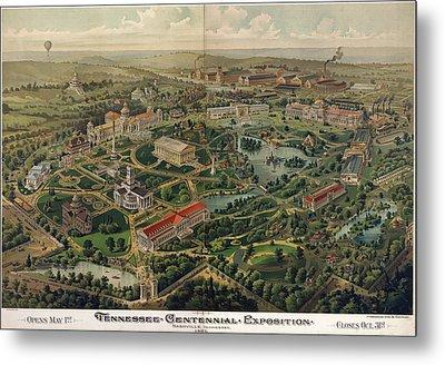Vintage Nashville Centennial Park Map - 1897 Metal Print
