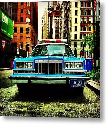 Vintage Nypd. #car #nypd #nyc Metal Print by Luke Kingma