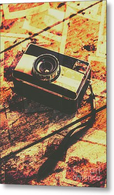 Vintage Old-fashioned Film Camera Metal Print by Jorgo Photography - Wall Art Gallery
