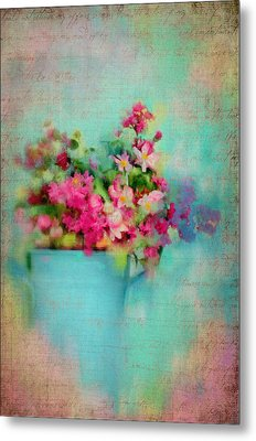 Flowers From A Cottage Garden Metal Print