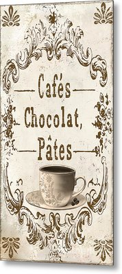 Vintage Paris Cafe Sign Metal Print