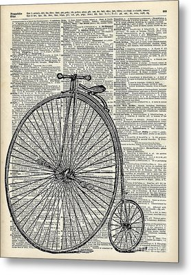 Vintage Penny Farthing Bicycle Metal Print by Jacob Kuch
