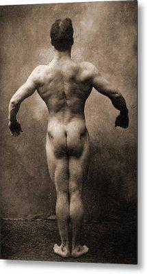 Vintage Photo Of Lionel Strongfort, 1910 Metal Print by German School