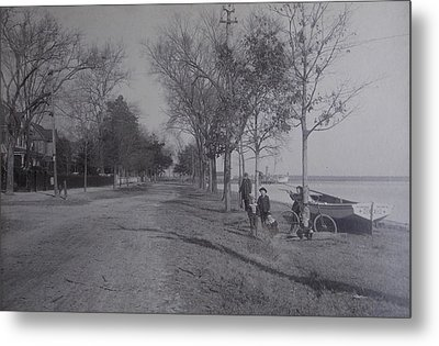 Vintage Photograph 1902 Front Street New Bern Nc Metal Print by Virginia Coyle