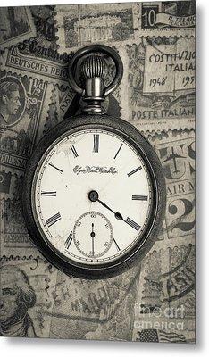 Vintage Pocket Watch Metal Print by Edward Fielding