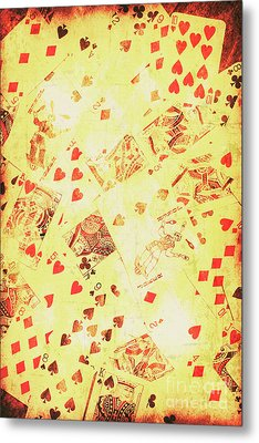 Vintage Poker Background Metal Print by Jorgo Photography - Wall Art Gallery