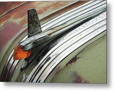 Vintage Pontiac Hood Ornament Metal Print by Jim Hughes