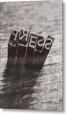 Vintage Press Industry Blocks Metal Print