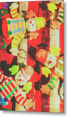 Vintage Pull String Puppets Metal Print