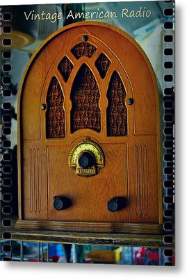 Vintage Cathedral Radio Metal Print by ARTography by Pamela Smale Williams