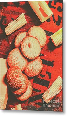 Vintage Rich Butter Shortcake Cookies Metal Print by Jorgo Photography - Wall Art Gallery